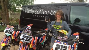 Jesse 'Full Of Beans' after securing a second year of sponsorship with The Little Coffee Bag Co
